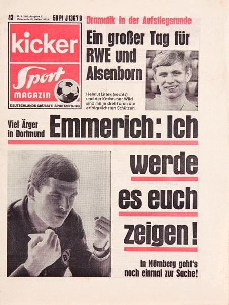 Kicker Sportmagazin Nr. 43, 29.5.1969 bis 4.6.1969