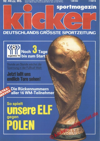 Kicker Sportmagazin Nr. 44, 29.5.1978 bis 4.6.1978