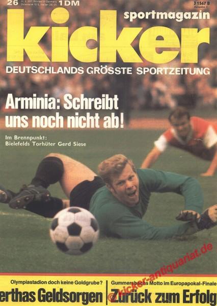 Kicker Sportmagazin Nr. 26, 29.3.1971 bis 4.4.1971