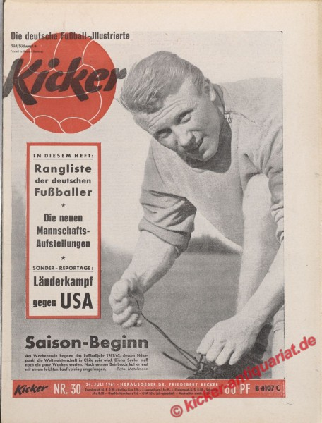 Kicker Nr. 30, 24.7.1961 bis 30.7.1961