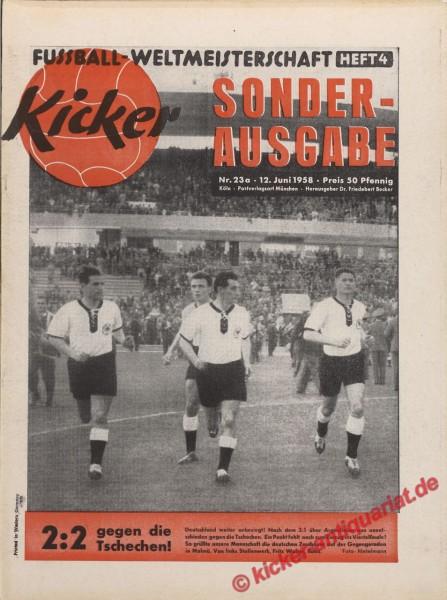 Kicker Nr. 23A, 12.6.1958 bis 18.6.1958