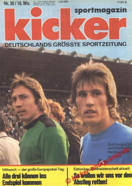 Kicker Sportmagazin Nr. 30, 12.4.1976 bis 18.4.1976