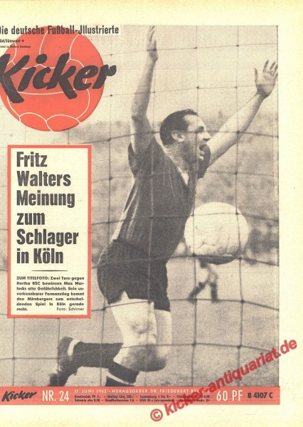 Kicker Nr. 24, 17.6.1963 bis 23.6.1963