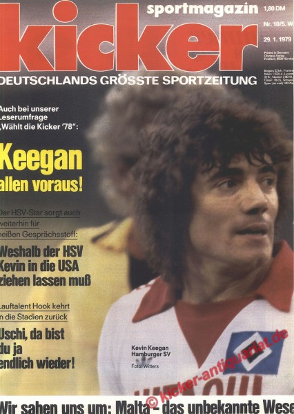 Kicker Sportmagazin Nr. 10, 29.1.1979 bis 4.2.1979