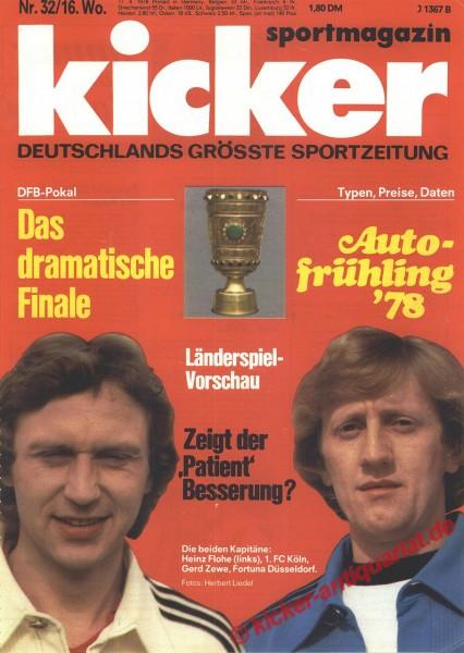 Kicker Sportmagazin Nr. 32, 17.4.1978 bis 23.4.1978