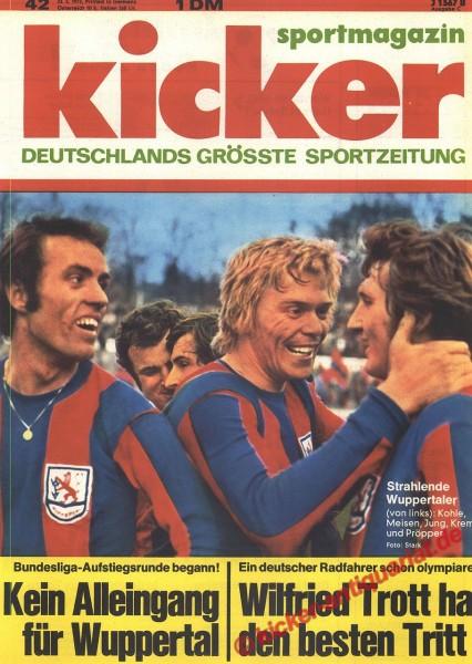 Kicker Sportmagazin Nr. 42, 23.5.1972 bis 29.5.1972