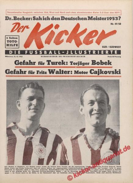 Kicker Nr. 49, 15.12.1952 bis 21.12.1952