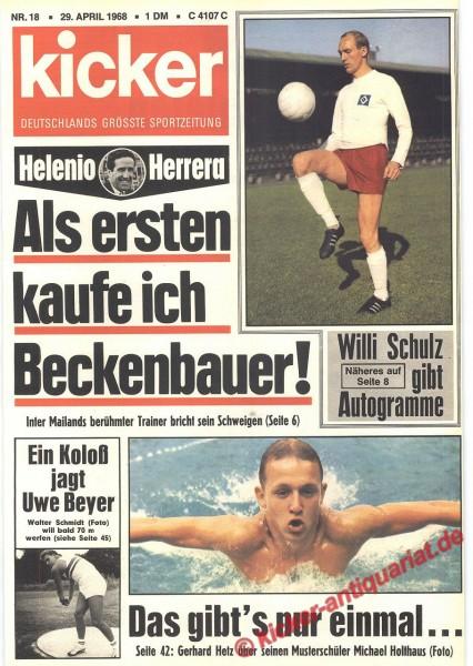 Kicker Sportmagazin Nr. 18, 29.4.1968 bis 5.5.1968