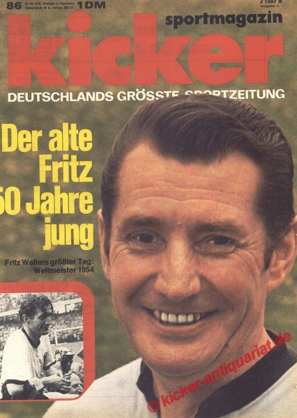 Kicker Sportmagazin Nr. 86, 26.10.1970 bis 1.11.1970