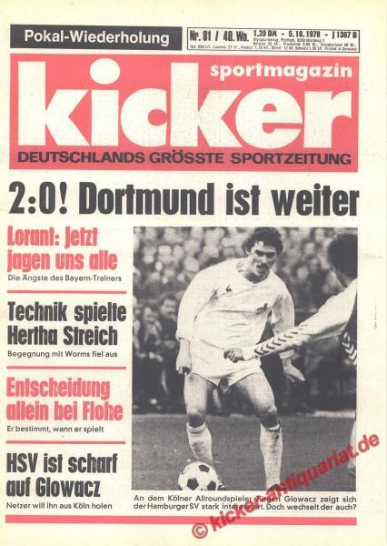 Kicker Sportmagazin Nr. 81, 5.10.1978 bis 11.10.1978