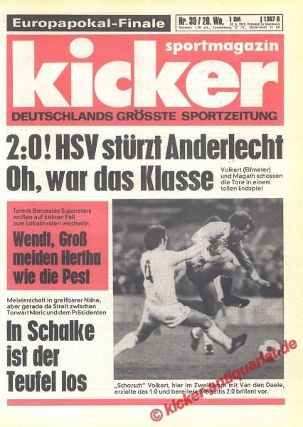 Kicker Sportmagazin Nr. 39, 12.5.1977 bis 18.5.1977