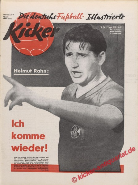 Kicker Nr. 36, 7.9.1959 bis 13.9.1959