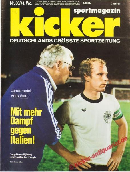 Kicker Sportmagazin Nr. 80, 3.10.1977 bis 9.10.1977