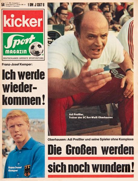 Kicker Sportmagazin Nr. 54, 7.7.1969 bis 13.7.1969