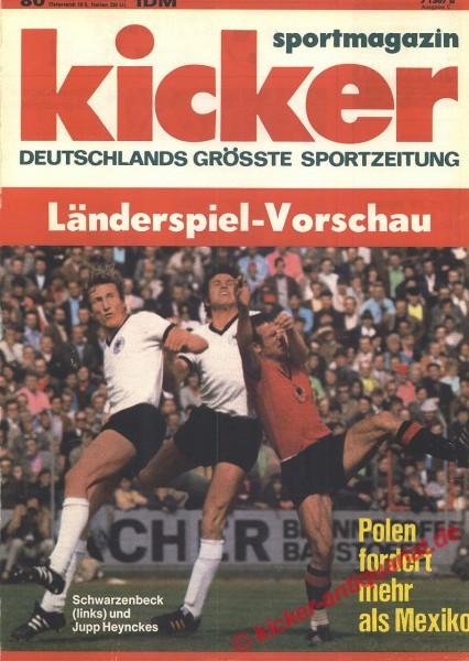 Kicker Sportmagazin Nr. 80, 4.10.1971 bis 10.10.1971