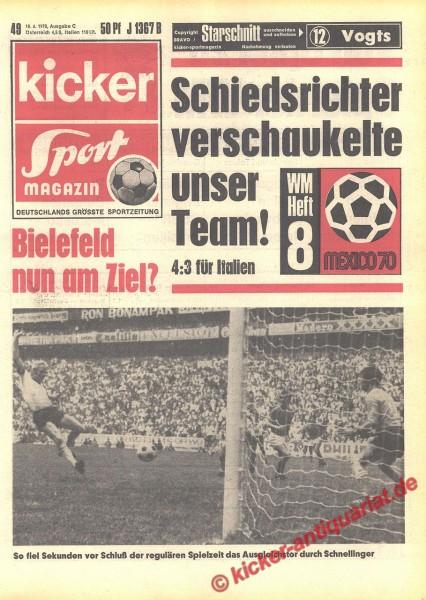 Kicker Sportmagazin Nr. 49, 18.6.1970 bis 24.6.1970