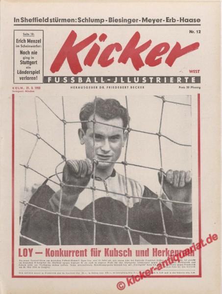Kicker Nr. 12, 21.3.1955 bis 27.3.1955