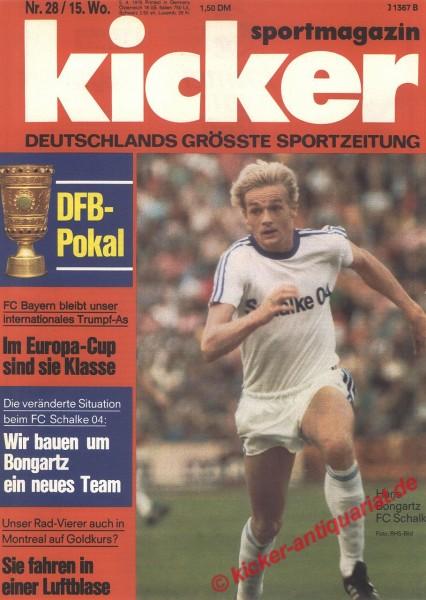 Kicker Sportmagazin Nr. 28, 5.4.1976 bis 11.4.1976
