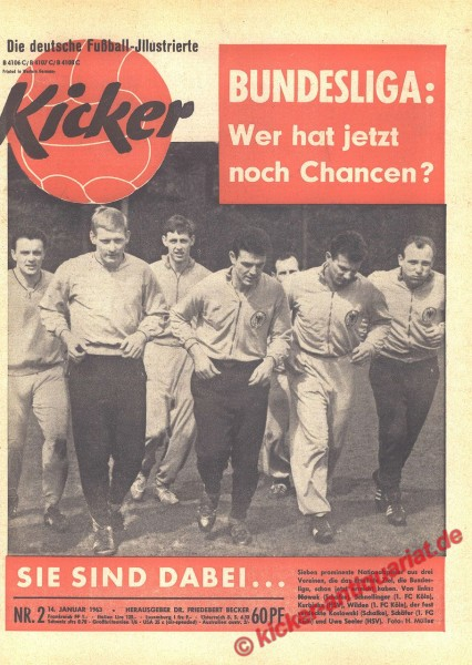 Kicker Nr. 2, 14.1.1963 bis 20.1.1963