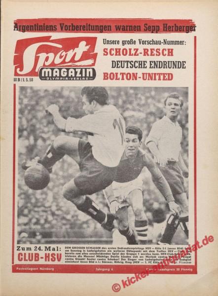 Sportmagazin Nr. 18B, 1.5.1958 bis 7.5.1958