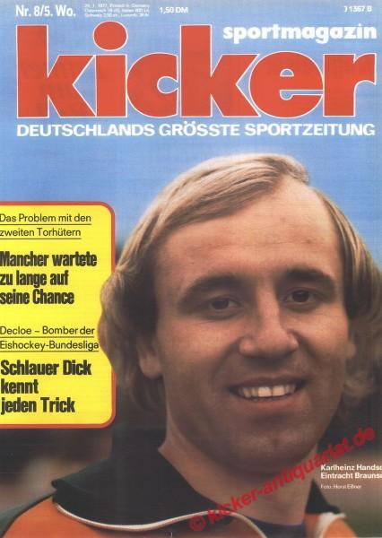 Kicker Sportmagazin Nr. 8, 24.1.1977 bis 30.1.1977