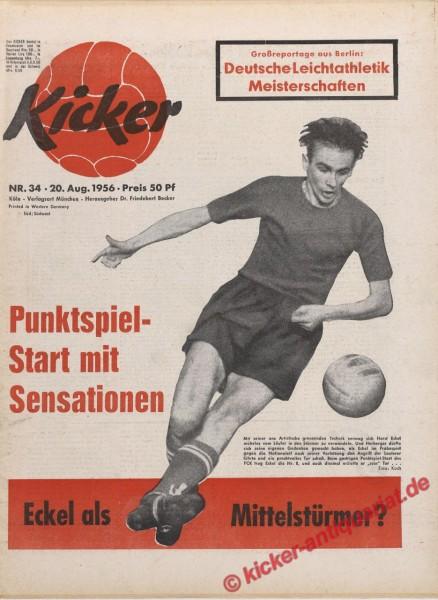 Kicker Nr. 34, 20.8.1956 bis 26.8.1956