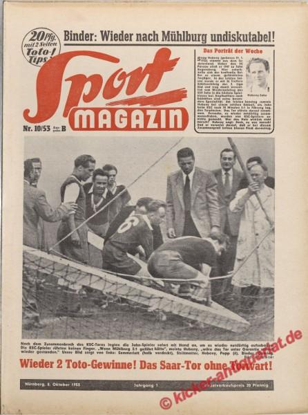 Sportmagazin Nr. 10B, 8.10.1953 bis 14.10.1953