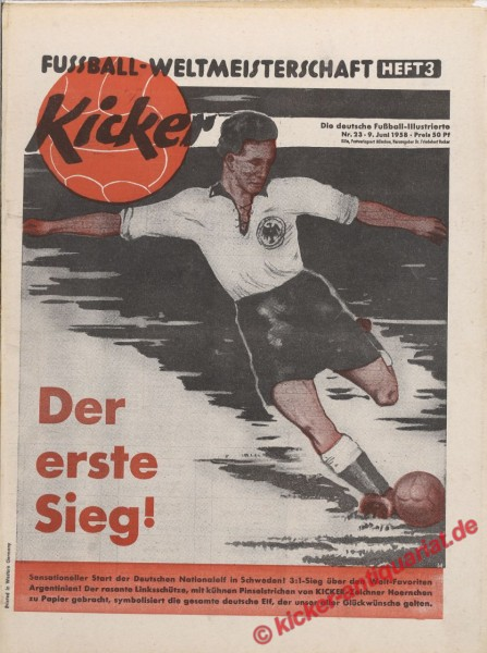 Kicker Nr. 23, 9.6.1958 bis 15.6.1958