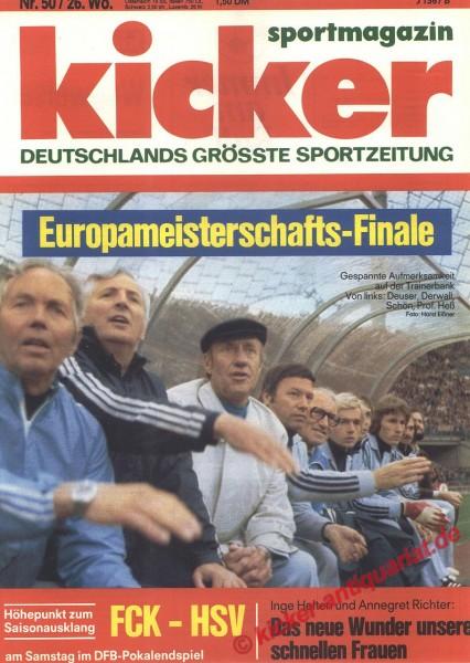 Kicker Sportmagazin Nr. 50, 21.6.1976 bis 27.6.1976