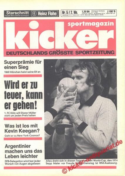 Kicker Sportmagazin Nr. 5, 12.1.1978 bis 18.1.1978