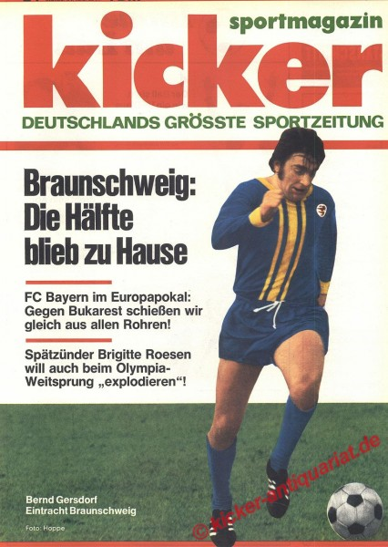 Kicker Sportmagazin Nr. 24, 20.3.1972 bis 26.3.1972