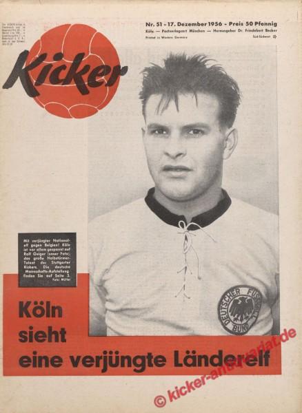 Kicker Nr. 51, 17.12.1956 bis 23.12.1956