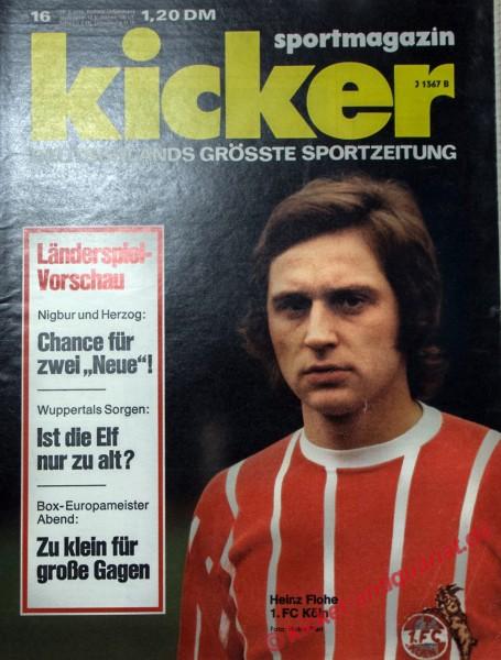 Kicker Sportmagazin Nr. 16, 18.2.1974 bis 24.2.1974
