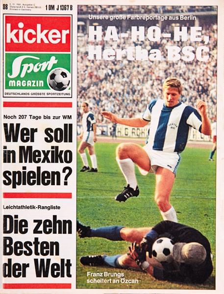 Kicker Sportmagazin Nr. 88, 3.11.1969 bis 9.11.1969