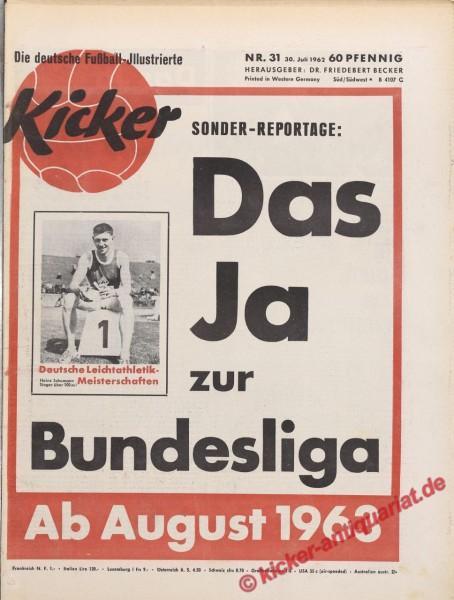 Kicker Nr. 31, 30.7.1962 bis 5.8.1962