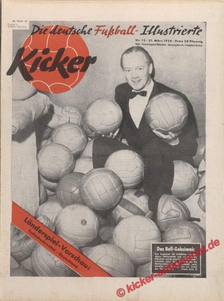 Kicker Nr. 13, 31.3.1958 bis 6.4.1958