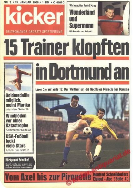 Kicker Sportmagazin Nr. 3, 15.1.1968 bis 21.1.1968