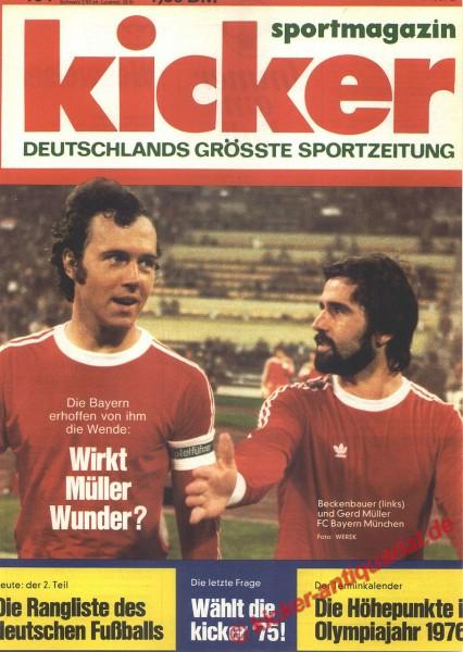 Kicker Sportmagazin Nr. 104, 29.12.1975 bis 4.1.1976