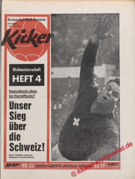 Kicker Nr. 23, 4.6.1962 bis 10.6.1962