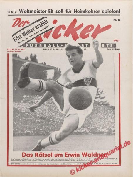 Kicker Nr. 42, 17.10.1955 bis 23.10.1955