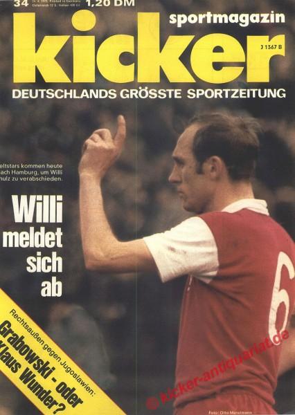 Kicker Sportmagazin Nr. 34, 24.4.1973 bis 30.4.1973
