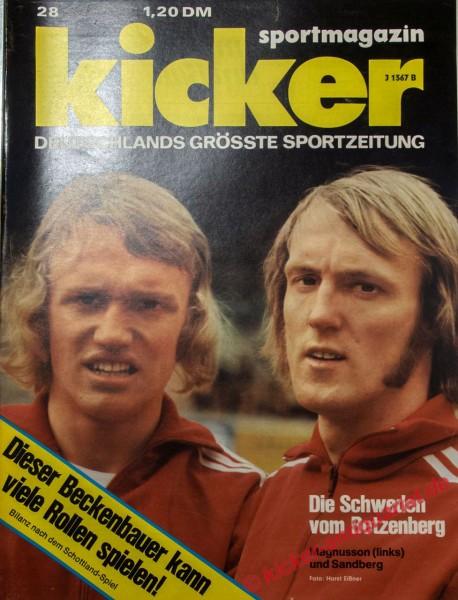 Kicker Sportmagazin Nr. 28, 1.4.1974 bis 7.4.1974