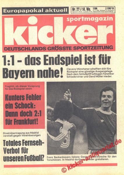 Kicker Sportmagazin Nr. 27, 1.4.1976 bis 7.4.1976