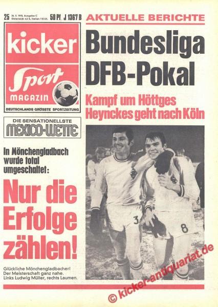 Kicker Sportmagazin Nr. 25, 26.3.1970 bis 1.4.1970
