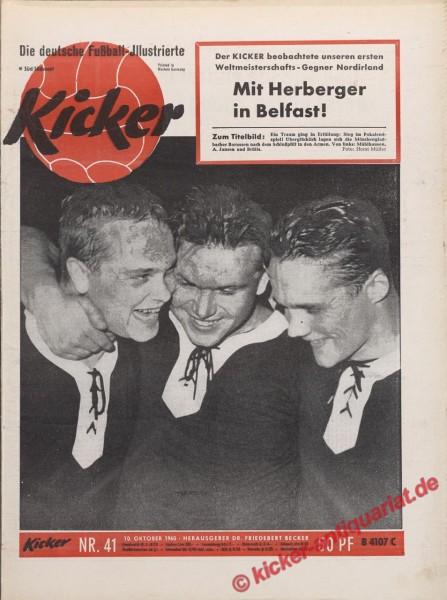 Kicker Nr. 41, 10.10.1960 bis 16.10.1960