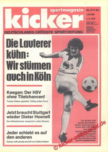 Kicker Sportmagazin Nr. 19, 1.3.1979 bis 7.3.1979
