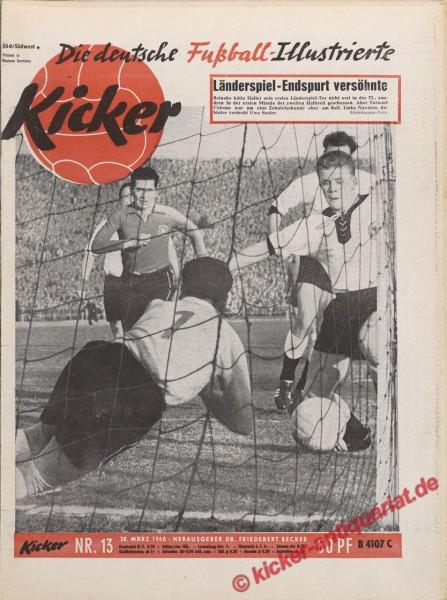 Kicker Nr. 13, 28.3.1960 bis 3.4.1960